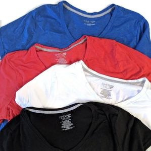 Lot of 4 Time and Tru Vneck tshirts